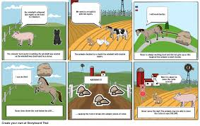 animal farm chapter 7 storyboard storyboard by snowball2