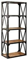 bookcases ideas bookcases wood metal and glass crate and barrel