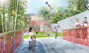 l a chinatown park transforms barren hillside into terraced