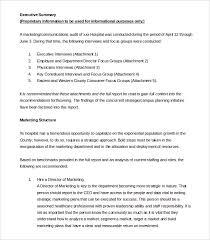 free professional executive summary templates u0026 samples