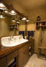 rustic bathroom lighting ideas breathingdeeply