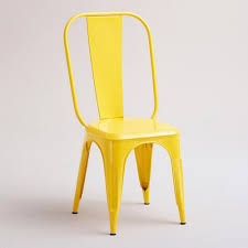 Yellow Bistro Chairs Cargo Stacking Chair Set Of 2 World Market