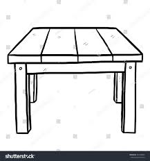 Wooden Table Background Vector Wooden Table Cartoon Vector Illustration Black Stock Vector