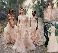 vintage light pink bridesmaid dresses naf dresses