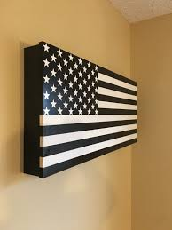Country American Flag American Flag Hidden Storage Secret Compartment Gun Rack By