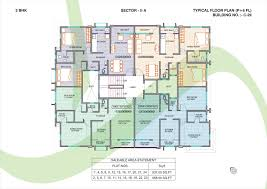 floor plans of sector ii a 2bhk flats in chakan dwarka township