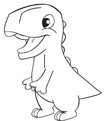 drawn dinosaur simple pencil and in color drawn dinosaur simple
