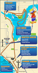 seattle map by district tour route ride the ducks of seattle