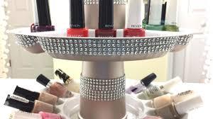 glam dollar tree rotating nail polish organizer diy youtube