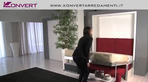 Divano Letto 1 Piazza E Mezzo Ikea by Letto A Scomparsa Matrimoniale Con Divano Ito Clei Youtube