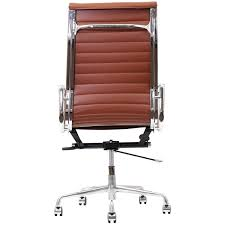 Midcentury Desk Chair Amazon Com Modway Ribbed High Back Office Chair In Brown Genuine