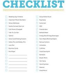 wedding day planner wedding day bridal checklist