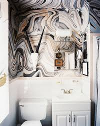 wallpapered bathrooms ideas 15 tiny bathrooms with major chic factor mydomaine