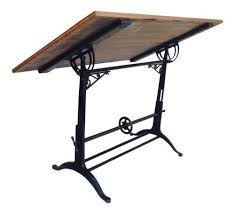 Drafting Tables With Parallel Bar Antique Drafting Table Ebay