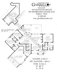 Floor Plan Cottage by Westbrooks Cottage 2165 House Plans By Garrell Associates Inc