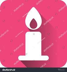 icon christmas app christmas candle lit stock vector 506516818