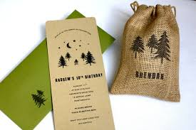 woodland backyard camping birthday party invitation no 10