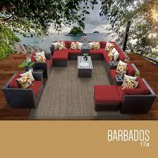 Outdoor Wicker Patio Furniture Sets - tk classics barbados 17 piece outdoor wicker patio furniture