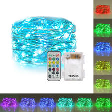battery operated led string lights waterproof yihong fairy lights battery operated rgb lights waterproof 50 led