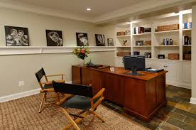 Finished Basement Carpet Natty Guest Room In Luxury Home Offices Ideas With Wooden Desk And