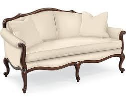 Living Room Settee Furniture Devereux Settee With Welt Trim Living Room Furniture