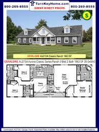 2 bedroom 2 bath modular homes geraldine au215a 3 bed 2 bath ranch plan 1863 sf commodore