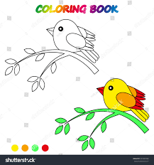 bird coloring page worksheet game kids stock vector 691852984