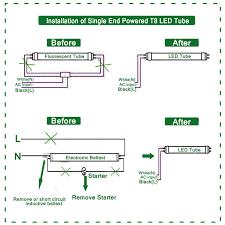 Led 110v Wiring Diagram 6 Pack Hykolity 4ft T8 T10 T12 Led Tube Light 18w 40w