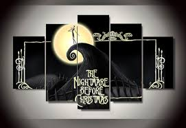 nightmare before christmas decorations aliexpress buy unframed printed the nightmare before