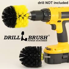 drill brush power scrubber power spinning nylon bath and shower