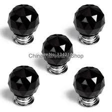 Glass Doorknob 5 X Ls A010 30mm Black Crystal Glass Door Knob Furniture Cabinet