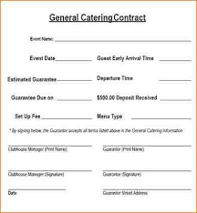 catering contract free printable catering services agreement
