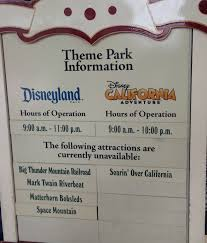 disneyland hours thanksgiving updated 3 major attractions suddenly closed at disneyland