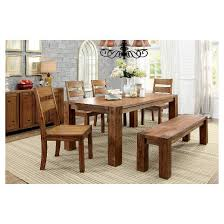 sun u0026 pine sturdy wooden dining table wood dark oak target
