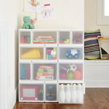 Narrow Bookcase With Drawers by Like It White Modular Drawers The Container Store