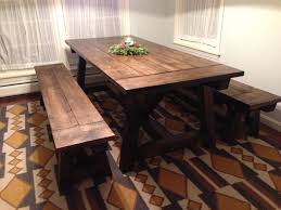 dining room table and bench farmhouse dining table with bench corner u2014 farmhouse design and