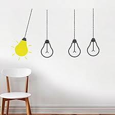 Buy Decals Design Idea Bulbs Wall Sticker PVC Vinyl  Cm X - Wall sticker design ideas