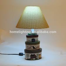 Paper Table Lamp Christmas Light Handmade Paper Table Lamps Small Oval Base Three