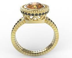 topaz engagement ring custom yellow topaz engagement ring vidar jewelry unique custom