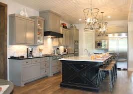 white kitchen cabinets with black island stainless steel single handle delta faucet gray kitchen cabinets