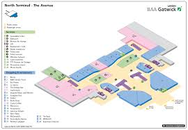 La Airport Map North Terminal Of London Gatwick Airport Airport Layouts Of