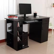 Glass Computer Desk Australia Printer Table Makeovers Computer Desk With Shelf S Designlet