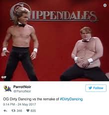 Dirty Dancing Meme - dirty dancing 2017 destroyed by twitter the hollywood gossip