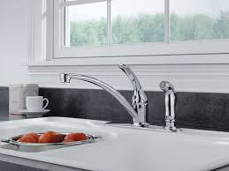 peerless chrome single handle kitchen faucet with spray walmart