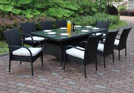 Patio Coffee Table Set by Poundex P50272 Outdoor 9 Pcs Glass Patio Table Set