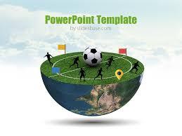 football planet powerpoint template slidesbase
