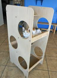 Unique Cat Furniture Modern Cat Tower Large Size Of Portable Cat Tree Little Oak