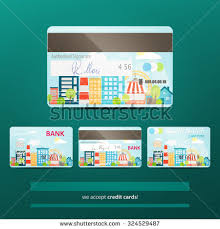 Us Bank Credit Card Designs Set Realistic Credit Card Icons Origami Stock Vector 331962584