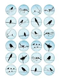 Cabochon Vorlagen Blau Blue Bird Silhouettes 12mm 14mm 16mm Bottle Cap Images Cabochon