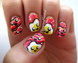 plumeriapainted eggs bacon nail art